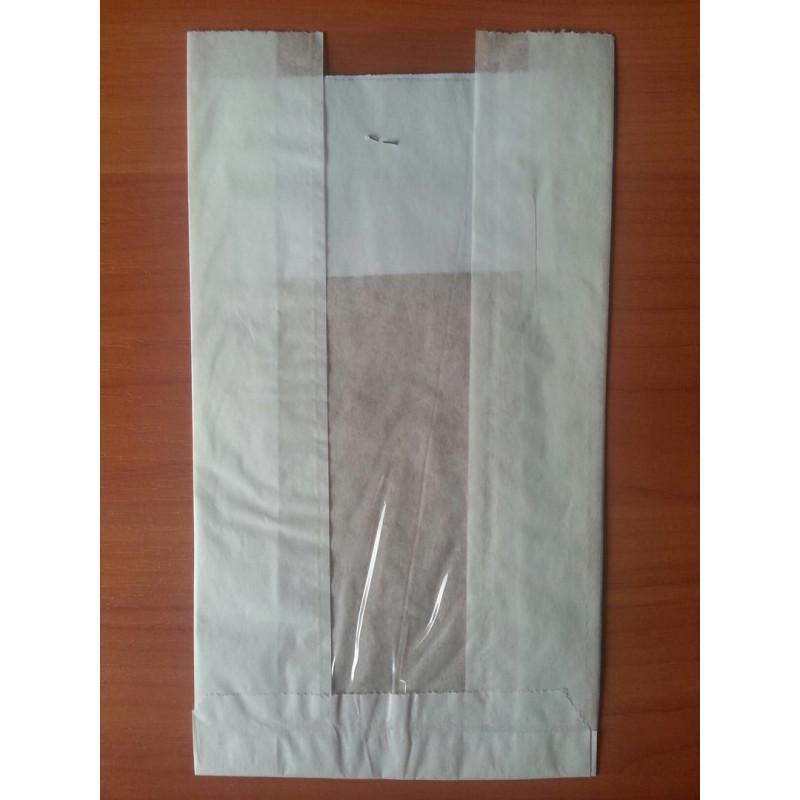 Бумажный пакет с прозрачной вставко...