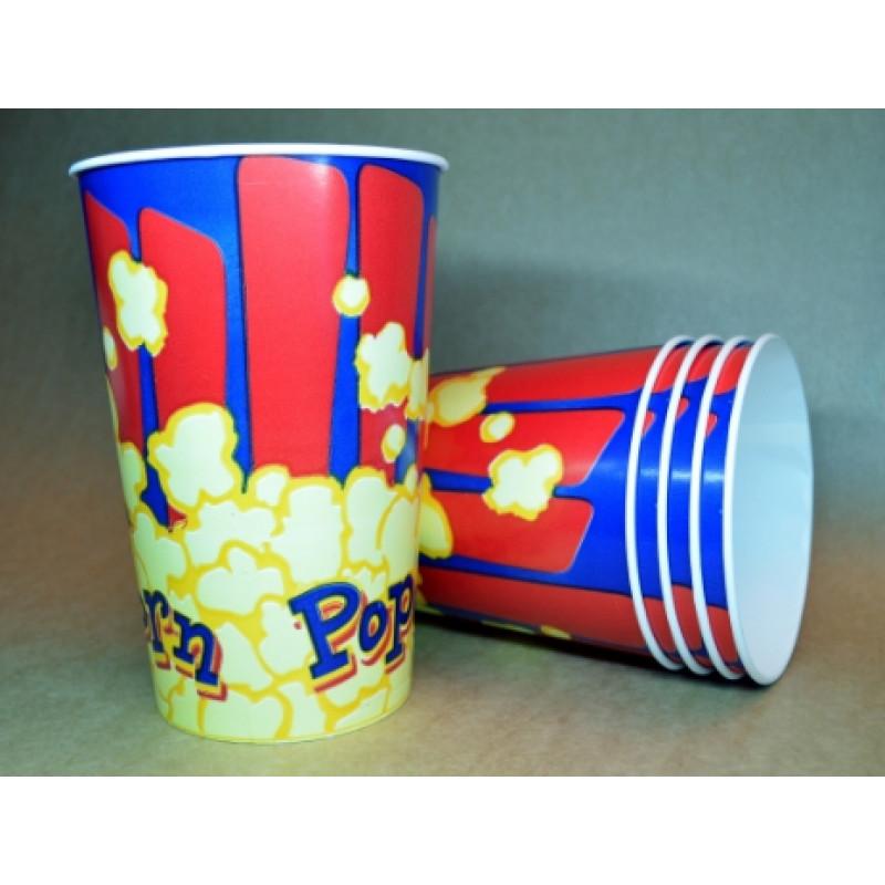 "Картонный стакан 1,5 л ""Попкорн синий"""