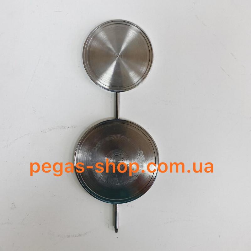 Медальон двойной в цвете хром