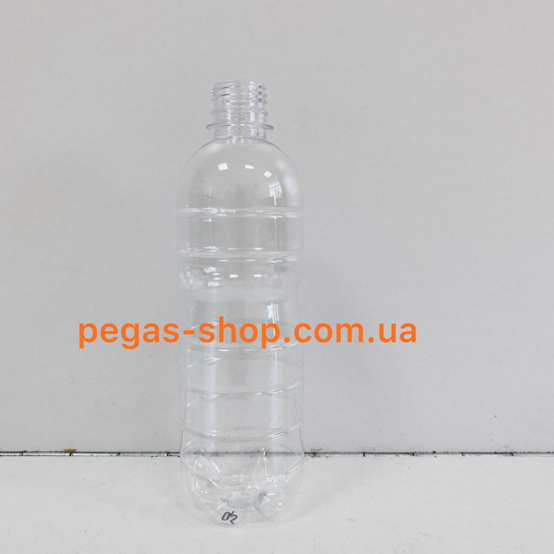 ПЭТ бутылка 0,5 л. прозрачная с кры...