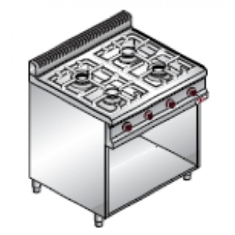 Плита газовая Bertos G7F4M+2P400 (Б...